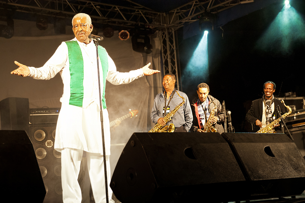 Mahmoud Ahmed performing at Selam music festival