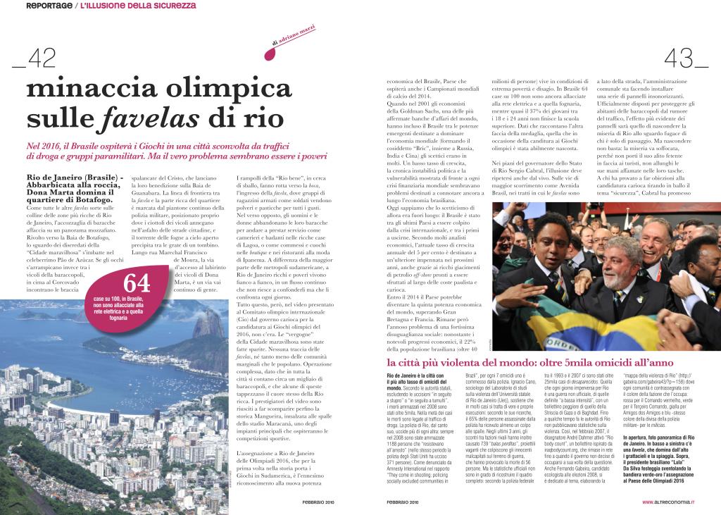 Minaccia olimpica sulle favelas di Rio - Altreconomia-1