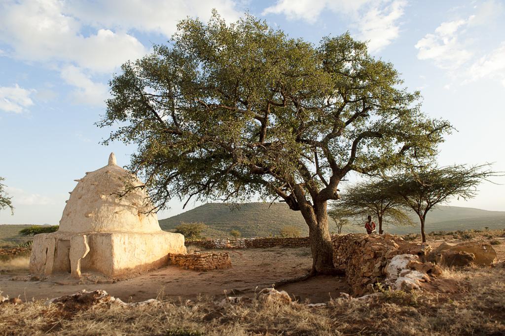 il tempio dedicato a Maometto nel villaggio di Sheikh Hussein