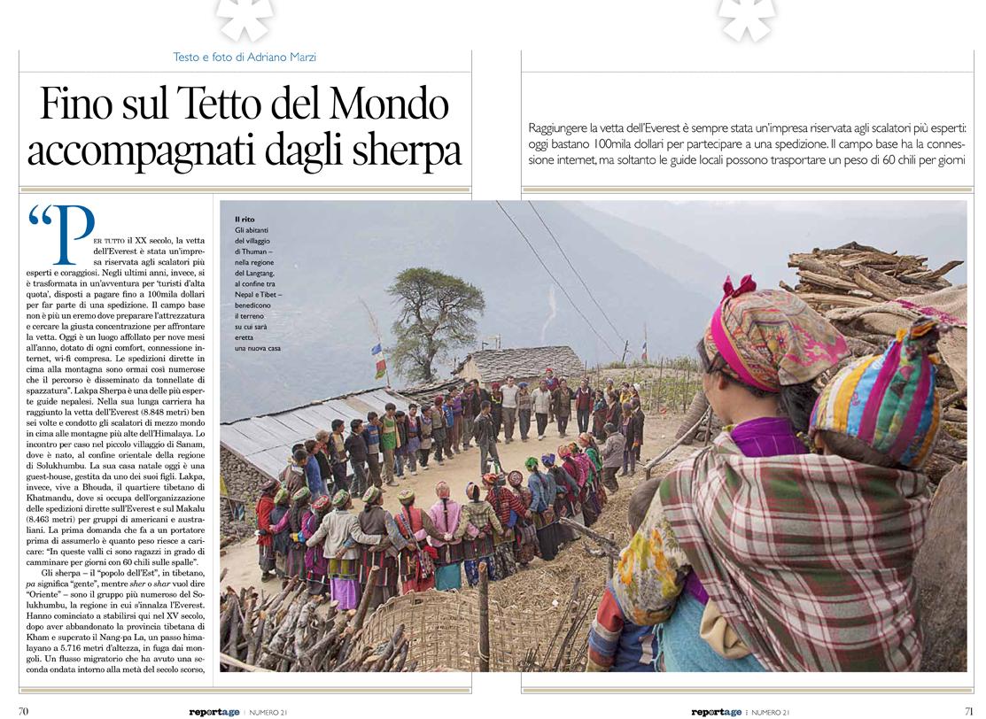 La Terra Degli Sherpa.Sherpa Il Reportage 1 2015