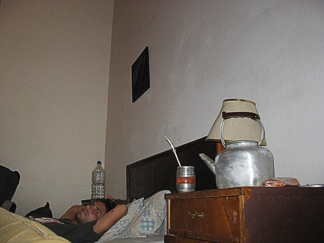 il Pelato in una pensione di Montevideo