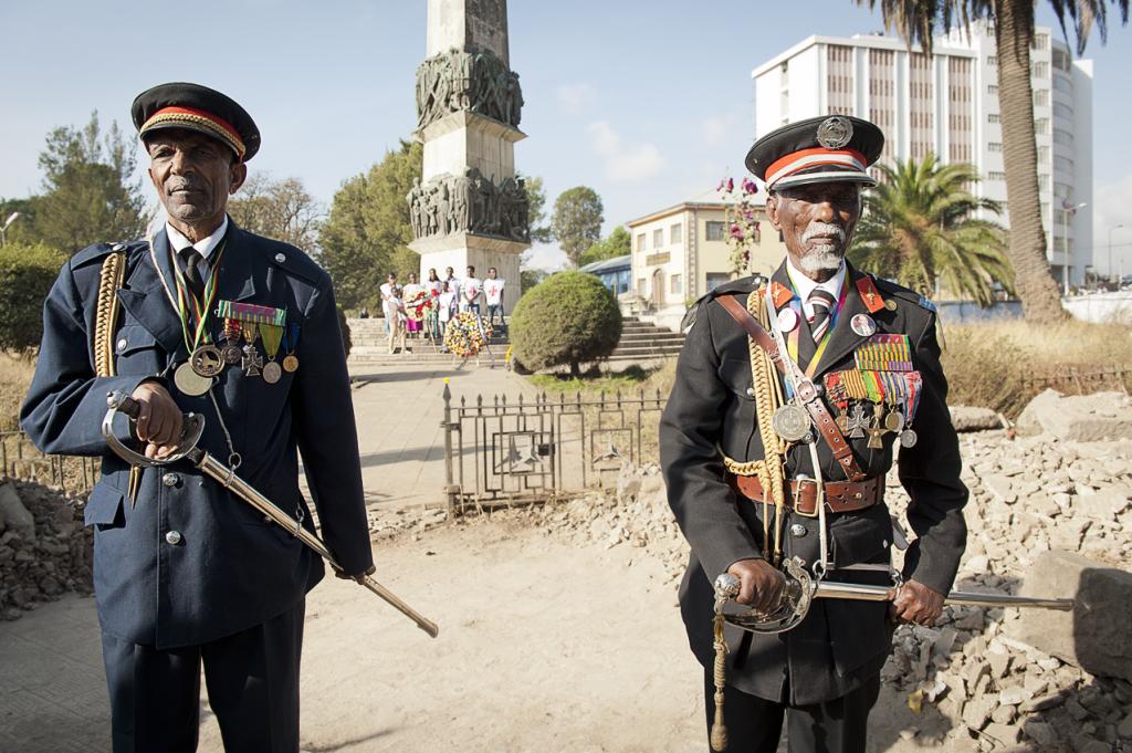 parata Arbegnoch 2014 (davanti all'obelisco che ricorda la strage ordinata da Graziani)