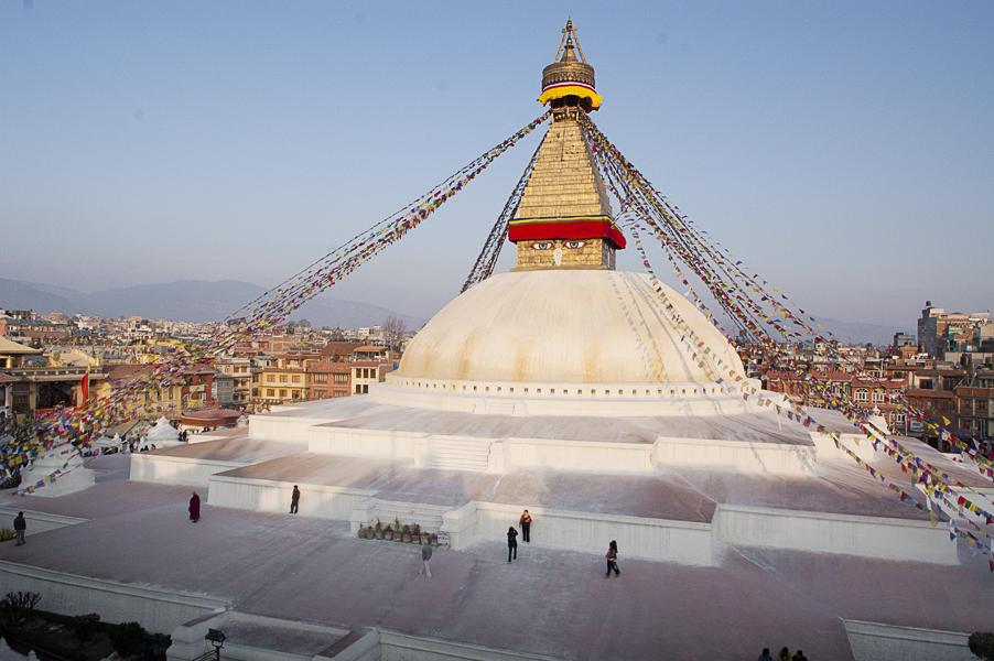 Boudhanath stupa (Valle di Khatmandu), 25 febbraio 2011
