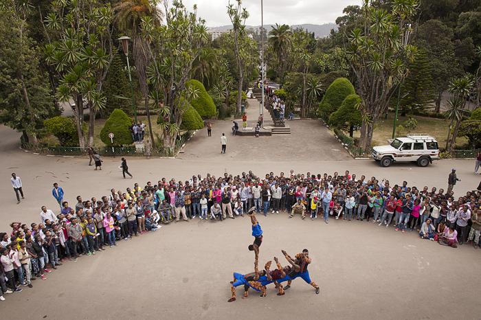 esibizione promozionale alla Addis Ababa University