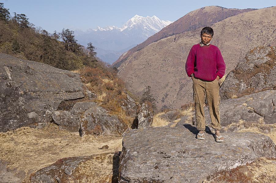 purna-kumal-rai-the-sherpa-who-helped-me-to-cross-salpa-la-on-the-background-mount-numbur