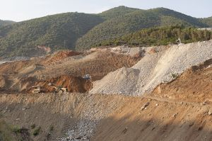 Kokkinolakos dump site, where Eldorado stores toxic waste from Olympiada mine