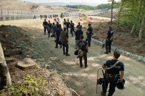 Greek police ready to defend Eldorado site in Skouries forest from Nogold activists actions