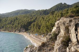Karidi beach in Halkidiki Peninsula