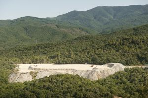 One of several Olympiada mine dumping sites. The waste coming from that mine is very rich in arsenic
