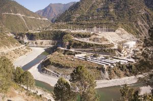 Koteshwar hydropower plant on Bhagirathi (Ganges) river