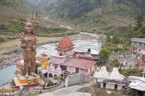 Pilot baba fake ashram on Bhagirathi (Ganges) river
