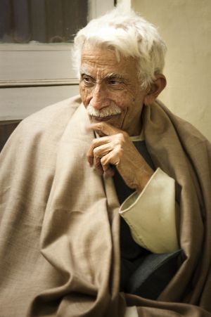 Prof Veer Bhadra Mishra, founding president of the Sankat Mochan Foundation in Varanasi