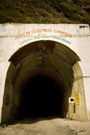 One of the tunnels of Loharinag-Pala hydroelectric project