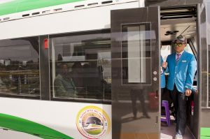 Chinese driver on the new Addis Ababa light train. According with specific agreements, Chinese staff will fulfill the training process of their Ethiopian colleagues, which are expected to take full charge of the railway management in some years