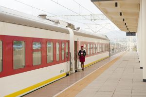The new Addis Ababa-Gibuti train, financed by Export-Import Bank of China and implemented by China Railway Engineering Corporation
