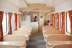 Restaurant car on the Addis-Gibuti new train