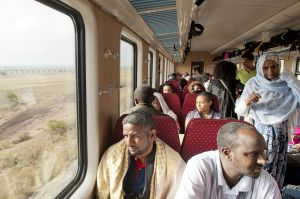 Traveling on the Addis-Gibuti new train