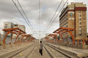 The railway few months before the new Addis Ababa light train got into operation