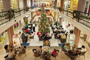 A mall during Christmas time in Addis Ababa