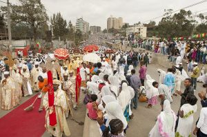 During Timket, the most important Ethiopian Orthodox Church celebration