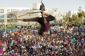 Performing at the First African Circus Festival