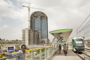 The new Addis Ababa light train