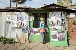 A dvd shop in the Gulele district, Addis Ababa