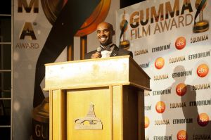 Ethiopian film director and producer Yonas Berhane, the organizer of the Gumma Awards. This US-trained filmmaker is one of the most prolific in the country