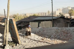 Informal settlement already cleared in Arat Kilo