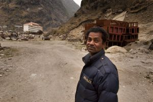 Nepalese border officer at Rasuwaghadi border