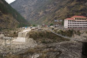 Nepal-China border at Rasuwaghadi