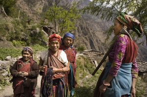 Tamang peasants in Dalphedi village